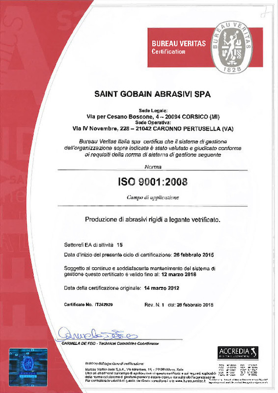 Published Asset:ISO 9001 Certificate Caronno Italy BA(it)